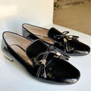 Patent Finish Loafers with Bow size 37